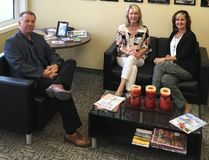 Access Credit Union CEO Larry Davey and COO Myrna Wiebe meet with Portage-Lisgar MP Candice Bergen.
