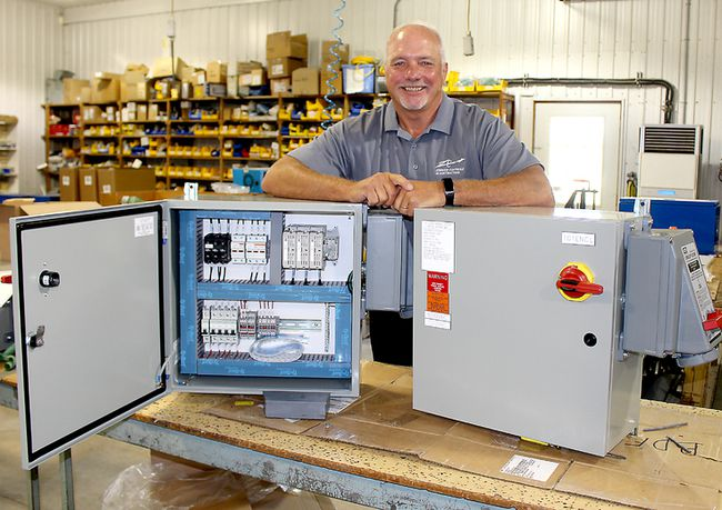 Zimmer Controls and Contracting Ltd. owner and founder Chris Zimmer is proud of the company that he has built over the last 25 years with the help of family and dedicated employees. Photo taken in Chatham, Ont. on Thursday August 10, 2017. (Ellwood Shreve/Chatham Daily News/Postmedia Network)