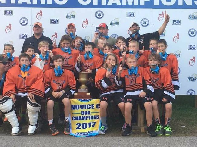 The Owen Sound Xerox North Stars novice team after their gold medal win. SUPPLIED PHOTO