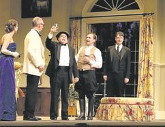 Sarah Higgins, Douglas E. Hughes, Eddie Glen and Tim Funnell star in One For the Pot starting Wednesday at Huron Country Playhouse II. (Lisa Steinwedel/Special to Postmedia News)