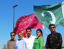 Some of the leadership of the Pakistan Canada Association of Fort McMurray pose for a photo at the Syncrude Athletic Park on Saturday, August 12, 2017, where the group celebrated Pakistan's 70th Independence Day. Vincent McDermott/Fort McMurray Today/Postmedia Network