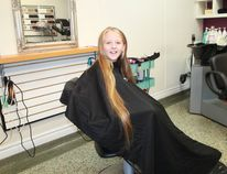 Eight-year old Ava Compagnion donated her long, blonde hair to the charity Wigs for Kids following a haircut at Point Edward's the Hair Boutique on August 8th. CARL HNATYSHYN/SARNIA THIS WEEK