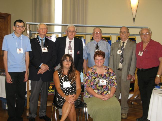 A dinner celebrating the latest inductees into the Norfolk County Sports Hall of Recognition was held Saturday at the Delhi Hungarian Hall. In the photo are Jill Cleaver (front, left), representing Jim Cleaver; Ashley Haskett; Jason Gordy (back, left); Don Boyd, representing Gordon Boyd; Charlie Haviland; Jim MacDonald and Paul MacDonald, representing the MacDonald family; and Bryan Zilkey. Missing is Ron Kowalsky. MICHELLE RUBY/Postmedia News
