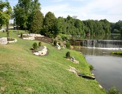 Improvements to the west bank of the Otterville dam have received much praise, and the volunteer group responsible for the work has been given permission to continue with improvements to the east bank after repairs have been made to the walls of the dam.