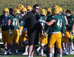 FILE PHOTO - Alberta Golden Bears head coach Chris Morris had plenty of frustrations on the sidelines during last year's 1-7 season.