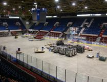 <p>The Jr. A Colts start training camp in less than a week, but Ed Lumley Arena wasn't looking ready for the club on Tuesday, Aug. 15, 2017, in Cornwall, Ont. In fact, maintenance work under the concrete means the Colts won't get on to the ice at the civic complex until just a few days before their home opener in September. </p><p> Todd Hambleton/Cornwall Standard-Freeholder/Postmedia Network