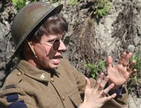 A Day in the Trenches hosted by the Manitoba World War I Museum near La Riviere took place Aug. 13. Interpreters located in at various stations shared details on how soldiers lived and died. (GREG VANDERMEULEN/Morden Times)