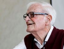Intelligencer file photo Harry Leslie Smith, author and activist for the poor and for the preservation of social democracy, speaks in Belleville back in 2015. Smith doesn't believe President Donald Trump will remain in power for much longer.