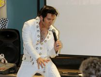 Elvis Presley impersonator Pete Doiron performs at Woodland Towers on Wednesday, Aug. 16, 2017 in Stratford, Ont. Wednesday marked the 40th anniversary of Presley's death. (Terry Bridge/Stratford Beacon Herald/Postmedia Network)