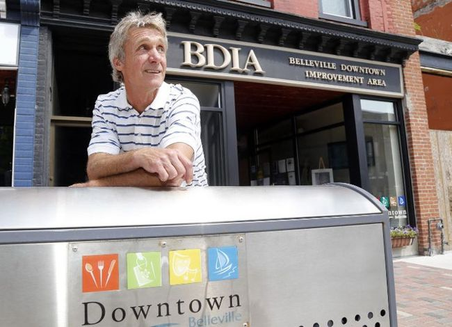 Luke Hendry/The Intelligencer Belleville Downtown Improvement Area chairman Dwane Barratt pauses outside the office Wednesday in Belleville. He said the board is hiring an office manager and making other changes.