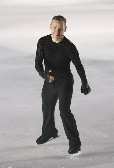Elvis Stojko is the star of the Aerial Acrobatics and Ice Skating Show at the Ricoh Centre at the media preview for the 139th annual Canadian National Exhibition on Wednesday August 16, 2017. (Michael Peake/Toronto Sun)