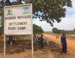 Matthew Fisher/Postmedia Network A sign announces the Bidibidi refugee camp in Uganda. Last summe,r Bidibidi did not exist. It is now home to the world's largest refugee camp, with 272,000 South Sudanese living within a sprawling, dusty landscape about 40 kilometres south of the South Sudan border