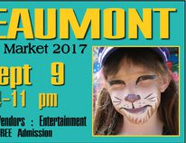 The poster for the second annual Beaumont Night Market coming to the CCBCC on Sept. 9.