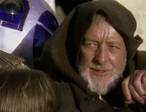 "Alec Guinness as Obi-Wan Kenobi in ""Star Wars."" (Screenshot)"