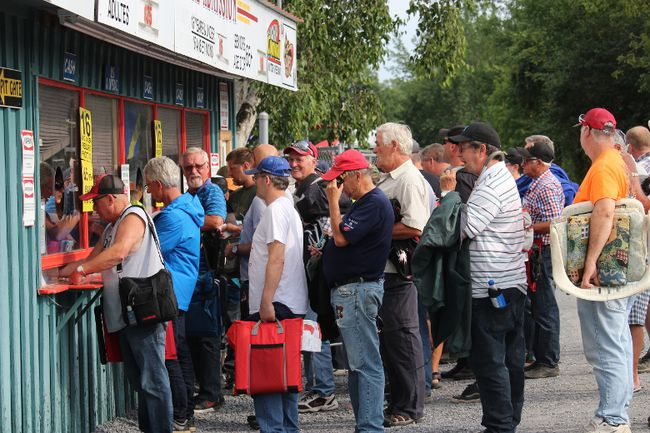 <p>An early lineup at the ticket windows, a couple of hours before the start of O'Canada 150 race night at Cornwall Motor Speedway on Thursday, August 17, 2017, in Cornwall, Ont. </p><p>