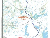 The area in Pikangikum the new power grid will cover. Illustration from Wataynikaneyap Power website