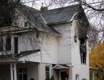 Fire damaged a home at 168 Church St., in November 2015.