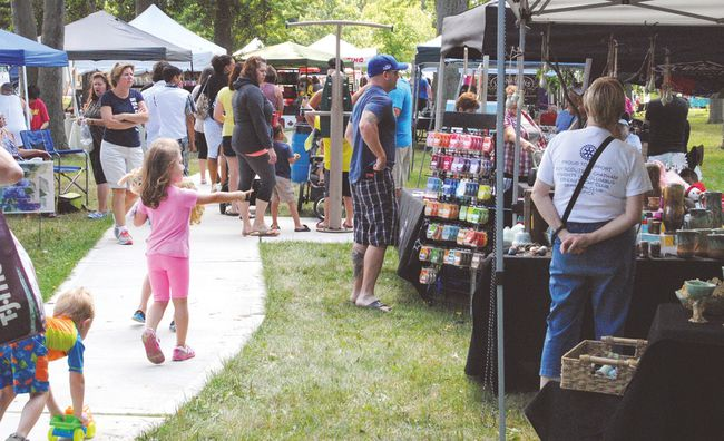 An estimated 10,000 people attended the second annual Art in the Park event in Tilbury on the weekend, more than twice the number that attended last year's inaugural event. (Dan Schwab/Postmedia Network)