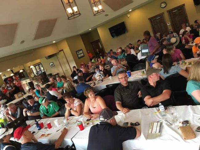 Golfers gather at the Whitecourt Golf and Country Club for the Anthony Gordon Memorial Golf Classic on Aug. 14 (Submitted photo | Eagle Tower Victim Services).