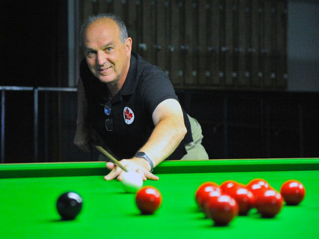 Simcoe's David Puddy recently competed at the Western Canadian Snooker Championships in Calgary. The local real-estate agent serves as the director of player development for Snooker Canada. JACOB ROBINSON/Simcoe Reformer