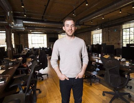 Michael Katchen, CEO of Wealthsimple, poses for a photograph at his office in Toronto on Thursday, April 27, 2017. THE CANADIAN PRESS/Nathan Denette