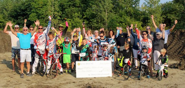 Cornwall BMX Club members, representatives from the Rotary Club of Cornwall and others gathered at the site of the new track being built in Guindon Park. The bulk of the work for the shaping of the track will be finished on Thursday.