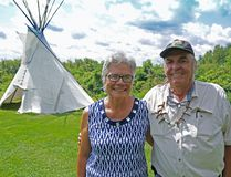Marie and Bob Stevenson, the husband and wife team who take care of the Thompson Island Youth and Elders Camp. Rachel Faber/Cornwall Standard-Freeholder