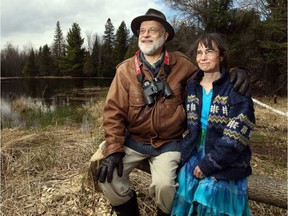 Paul and Cathy Keddy on their Lanark County nature preserve.