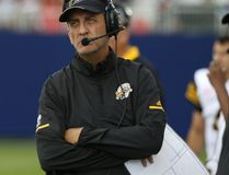 Tiger-Cats head coach Kent Austin fired himself and named June Jones as the new coach on Thursday, Aug. 24, 2017. (Jack Boland/Postmedia Network)