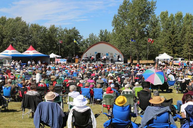The field was full during last year's Ukrainian Music Fest. Photo supplied.