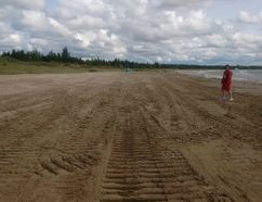 Sauble Beach after the town used a bulldozer to remove thick vegetation at north end of beach in August. Photo was shared by South Bruce Peninsula Mayor Janice Jackson on her Facebook page.