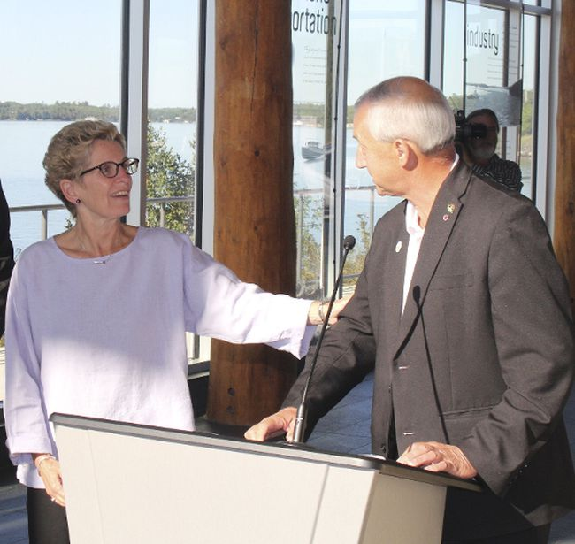 File photo/Postmedia Network Ontario Premier Kathleen Wynne discussed local issues relating to health care, the All-Nations hospital and Highway 17 twinning during a recent meeting with Kenora Mayor Dave Canfield.
