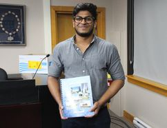 <p>Urban planning student Kaveen Fernando authored this year's edition of the City of Cornwall Data Book, which was released on Tuesday August 22, 2017 in Cornwall, Ont.</p><p> Alan S. Hale/Cornwall Standard-Freeholder/Postmedia Network