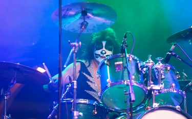 The Catman hits some signature beats as Destroyer Canada - one of the best KISS tribute bands around - played a three-set performance at the Midway Stage as the  138th annual edition of the CNE is mid-fair on Friday August 25, 2017. Jack Boland/Toronto Sun/Postmedia Network