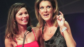 Shania Twain (L) and Celine Dion are seen together in this 2005 file photo. (MARK O'NEILL/Postmedia Network File Photo)