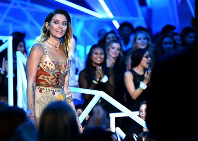 Paris Jackson walks onstage during the 2017 MTV Video Music Awards at The Forum on August 27, 2017 in Inglewood, California.  (Photo by Kevin Winter/Getty Images)