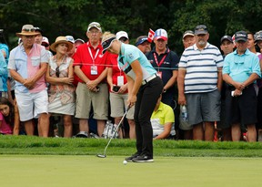 Brooke Henderson putts during the CP Women's Open at the Ottawa Hunt and Golf Club in Ottawa on Sunday, June 27, 2017. (Patrick Doyle)
