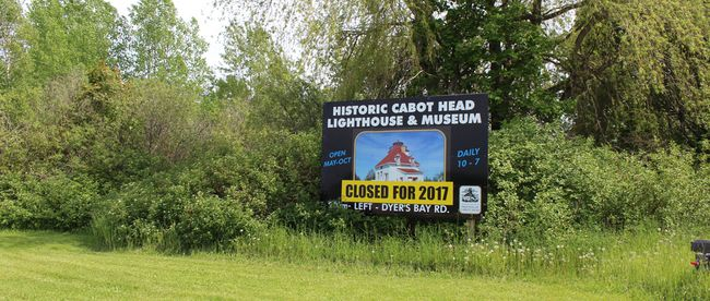 The Cabot Head Light Station, a popular tourist destination, is likely to remain closed for a second season as environmental studies and remediation take place at the site in Northern Bruce Peninsula. Photo by Zoe Kessler/Wiarton Echo