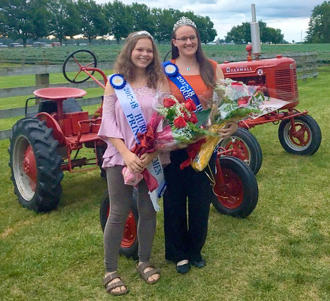 South Huron hosted the 90th Huron County Plowing Match on Friday Aug. 18, 2017 near Crediton in South Huron. Kara Hendriks and Brooklyn Hendriks of Ashfield Township were named Queen & Princess of Huron County Furrow.