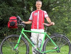 Brian Kelly/Postmedia Network Belleville native John Dixon is cycling across Canada to support the work of Wounded Warriors.