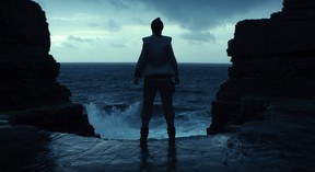 """This image released by Lucasfilm shows a scene from the upcoming """"Star Wars: The Last Jedi,"""" expected in theaters in December. (Industrial Light & Magic/Lucasfilm via AP)"""