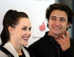 Olympic champions Tessa Virtue and Scott Moir at the Hershey Centre in Mississauga on Wednesday August 30, 2017. (Dave Abel, Postmedia Network)