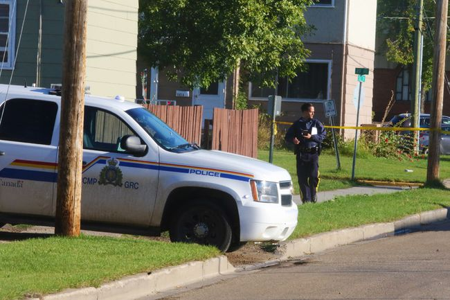 A block of 53 St. was taped off by police early Friday morning as local RCMP investigated the death of a teenaged male which occurred Thursday night.