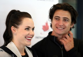 Olympic champions Tessa Virtue and Scott Moir at the Hershey Centre in Mississauga on Aug. 30, 2017. (Dave Abel/Toronto Sun/Postmedia Network)