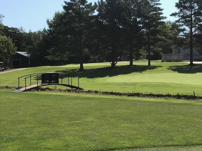 A new bridge at the ninth hole of the Carman golf course is just one of many new improvements to the facility. (SUPPLIED PHOTO)