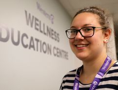 Taylor Brown, 21, works at the Wellness Education Centre at Western University says students expecting perfection can struggle with the realities of life at university. Photograph taken on Thursday August 31, 2017. Mike Hensen/The London Free Press/Postmedia