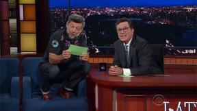 """Andy Serkis read Trump tweets as Gollum on """"The Late Show With Stephen Colbert"""" in July. (YouTube screengrab)"""