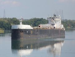 <p>A ship waits to be drained before heading into the Eisenhower Lock on Wednesday August 30, 2017 in Massena, N.Y.</p><p> Lois Ann Baker/Cornwall Standard-Freeholder/Postmedia Network