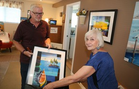 Walter Neuberg, of Picton, made a $500 purchase during his stop at Ilona Mayer's home studio.
