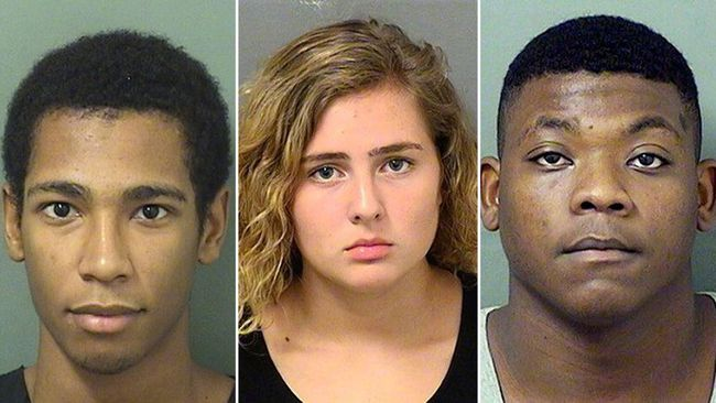 (From left)  Roberto Ortiz, Summer Church and Jace Swinton have been charged with first-degree murder in the death of MMA fighter Aaron Rajman. (Palm Beach County Sheriff's Office/HO)